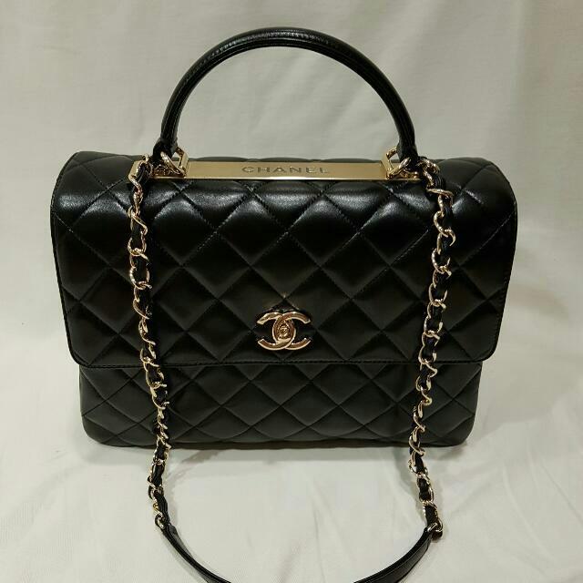 6ea6e5ef35d03 Chanel Trendy CC Large Dual Handle Flapbag