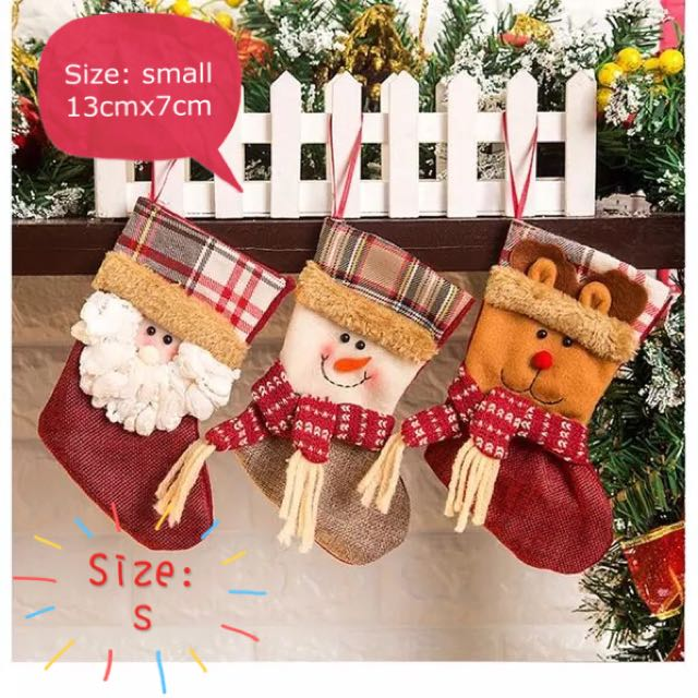Christmas Stocking🎅: Reindeer, Santa And Snowman, S,M,L