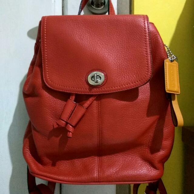 Coach Pebble Leather Bagpack