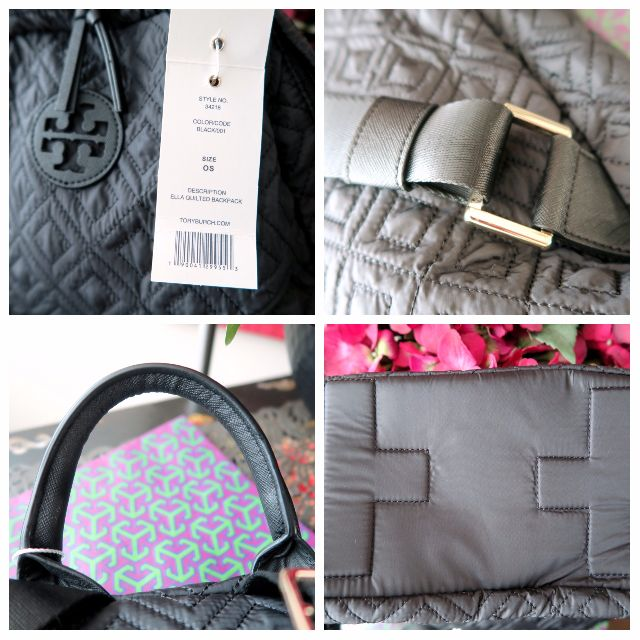 4b0e509f7219 Tory Burch  Ella  Quilted Nylon Leather Trim Tote Backpack Bag Brand New w  Tag