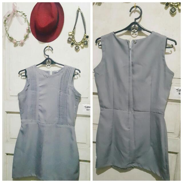 Cute Gray Mini Dress