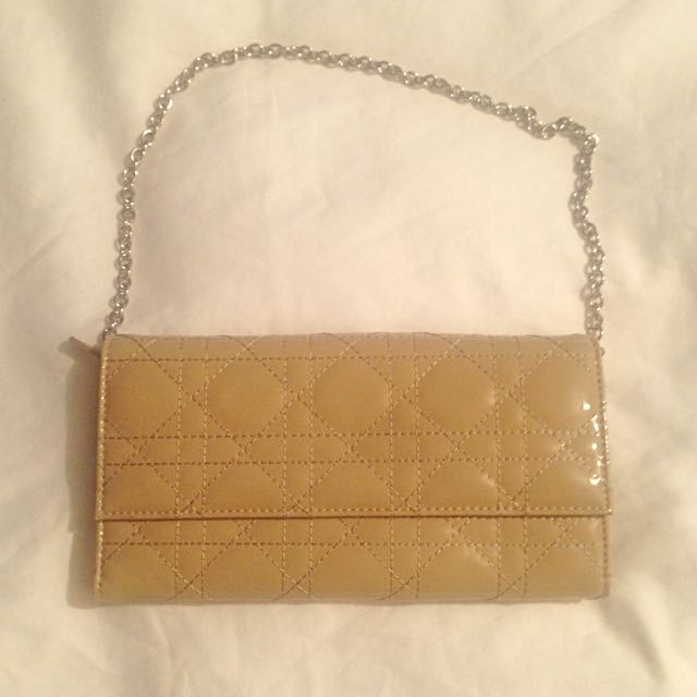 Dior Style Large Wallet With Chain