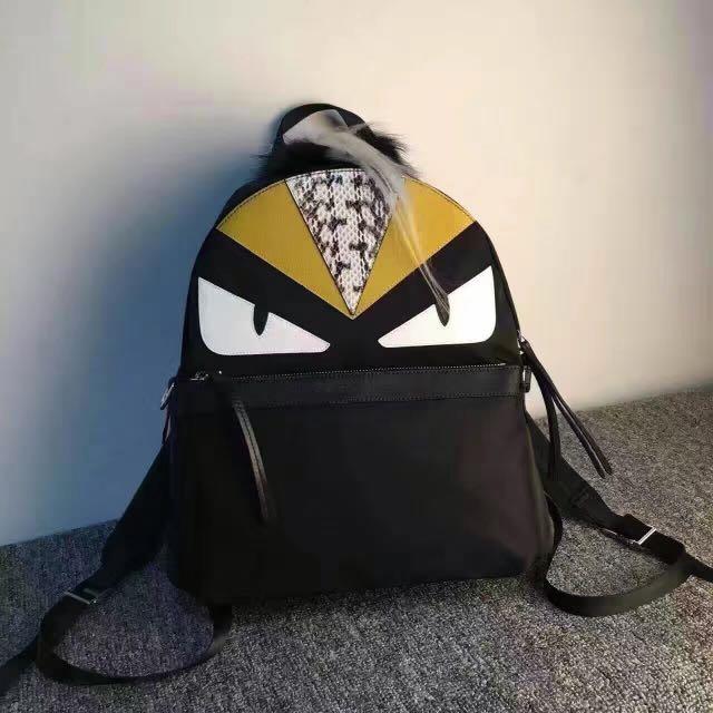 26b2f9720f2d FENDI Bugs Monster   Fur Python Eyes Backpack ( Imported )