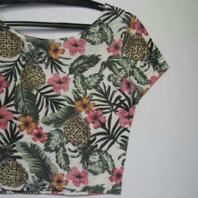 Forever 21 Floral Cropped Top