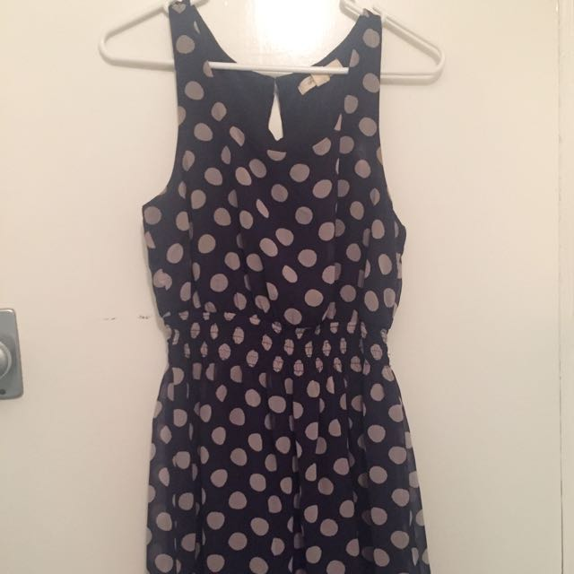 Forever 21 Polka Dots Dress. Size Small
