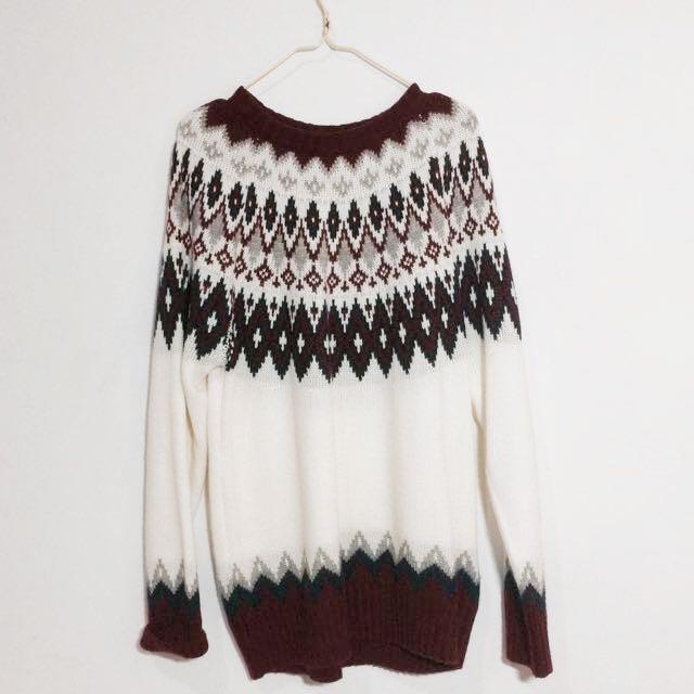 GU 民族風針織毛衣 #轉轉來交換