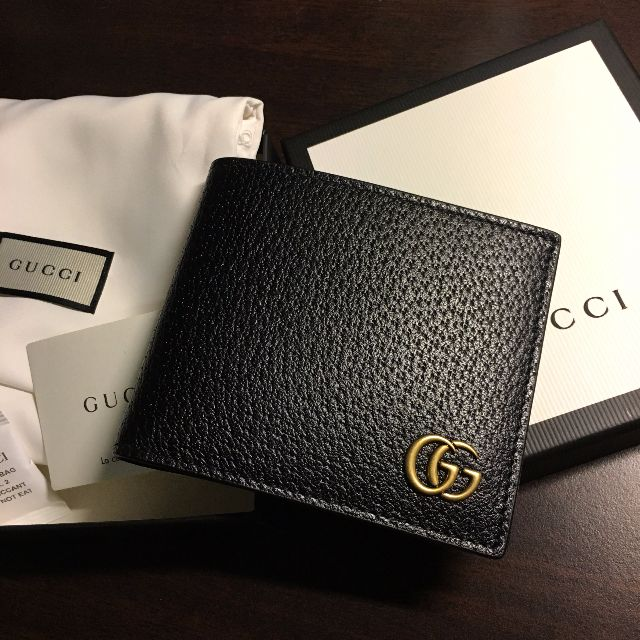 gucci gg marmont leather bifold wallet men new mens