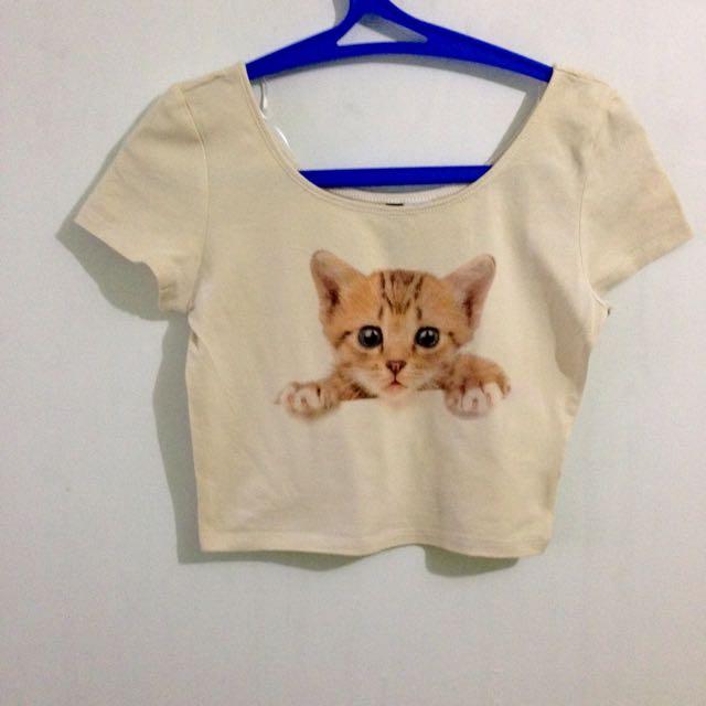 Hnm Cat Crop Top