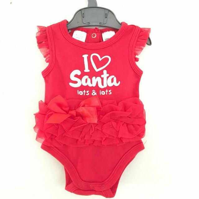 I ❤️ Santa Baby Outfit (0-3mos)