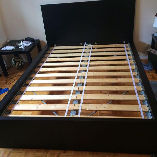 IKEA Malm Black Bedframe