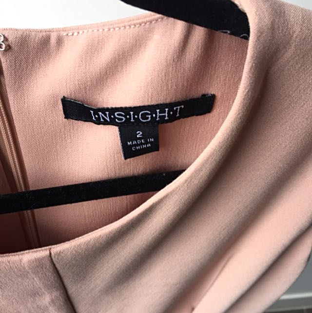 INSIGHT Blush Pink Dress With Knot Detail At Front