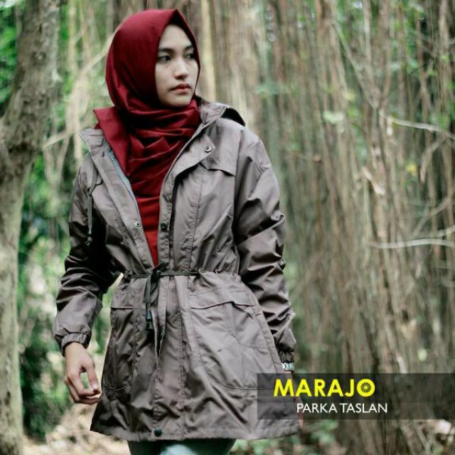 Jaket Parka Cewek Wanita Premium Coklat Muda (Waterproof) 6c58195c89