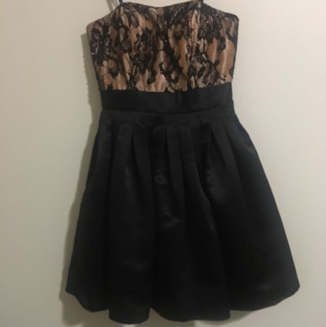 Jealousy Black and Dusty Pink Babydoll Dress