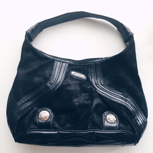 美國品牌Kathy Van Zeeland 黑色摩登麂皮感包包