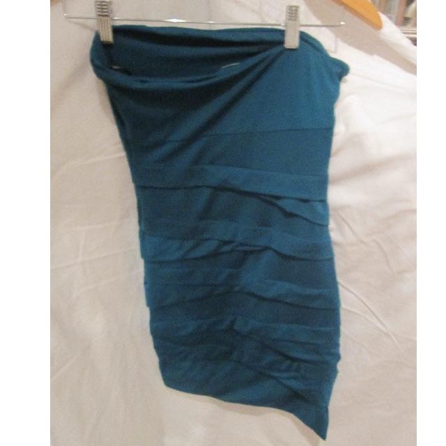 Kookai Strapless turqouise dress