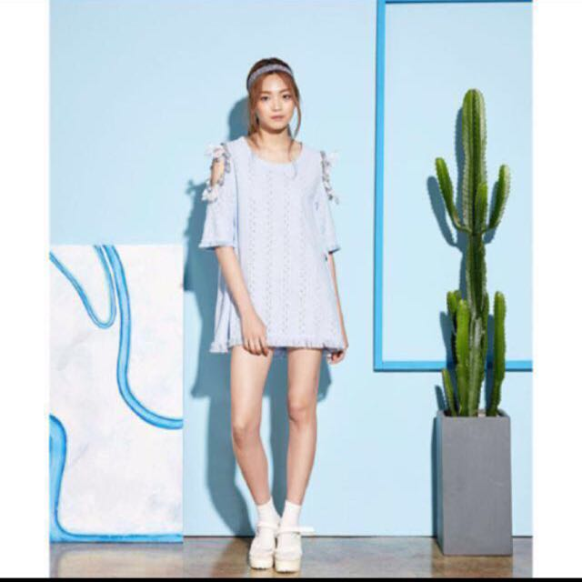 Korean Off Shoulder Dress
