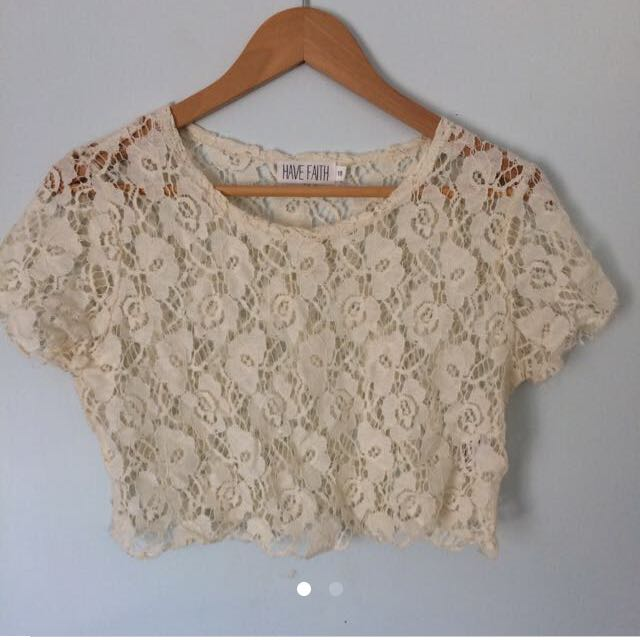 Lace Creme Top