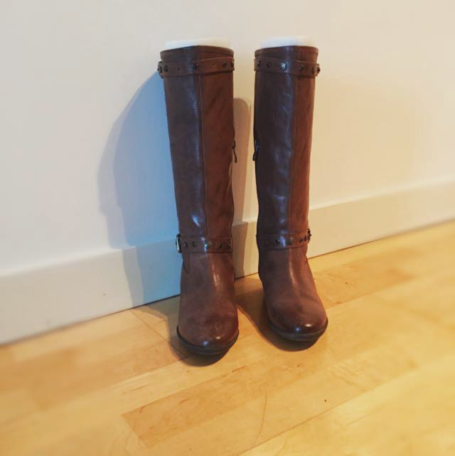 Leather Brown Boots Size 37