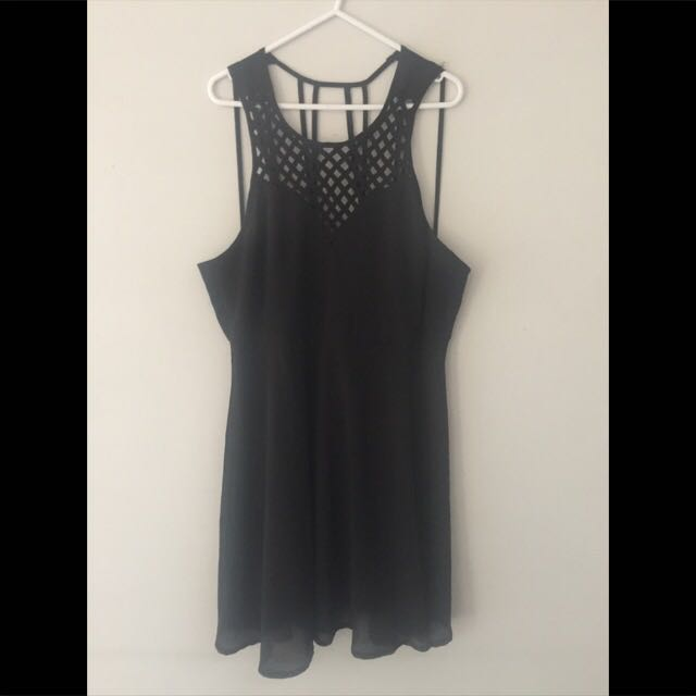 Little Black Dress - Lattice Neckline