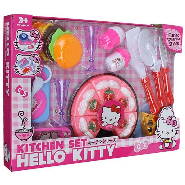Mainan Masak Masakan Pizza Hello Kitty Kitchen Set Hello Kitty Toys Collectibles Mainan Di Carousell