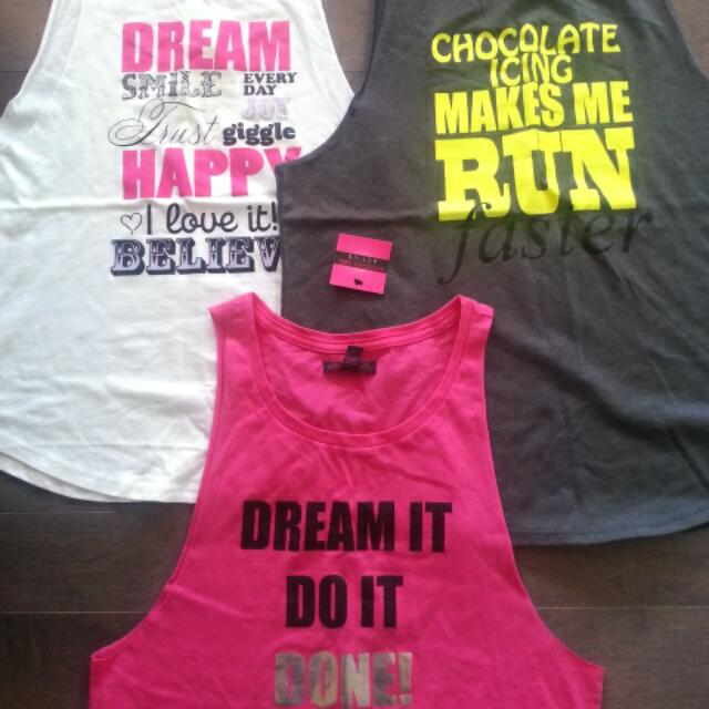 Material Girl Workout tanks-NWTS