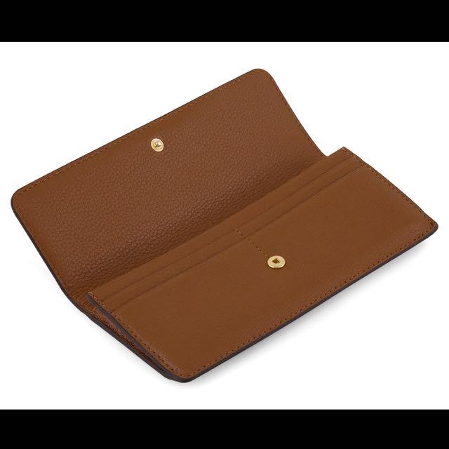 Michael Kors Bedford Soft Venus Flat Brown Wallet