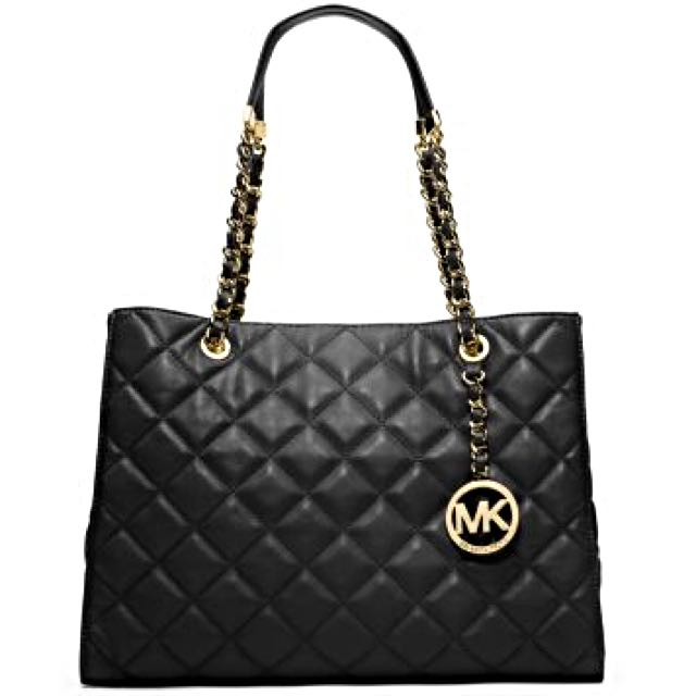 1305e6327c39 Brand New Michael Kors Susannah LARGE Lamb Leather Quilted Tote ...