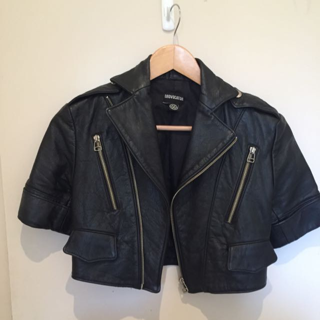 Natural Leather Jacket Size 8