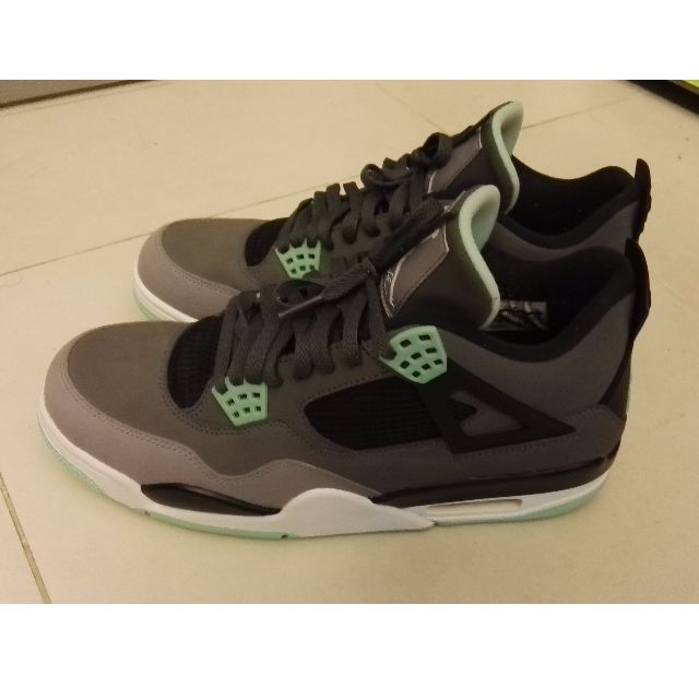 new product fb42f 44cb8 Nike Air Jordan 4 IV Retro Green Glow Dark Grey 308497-033, Men s ...