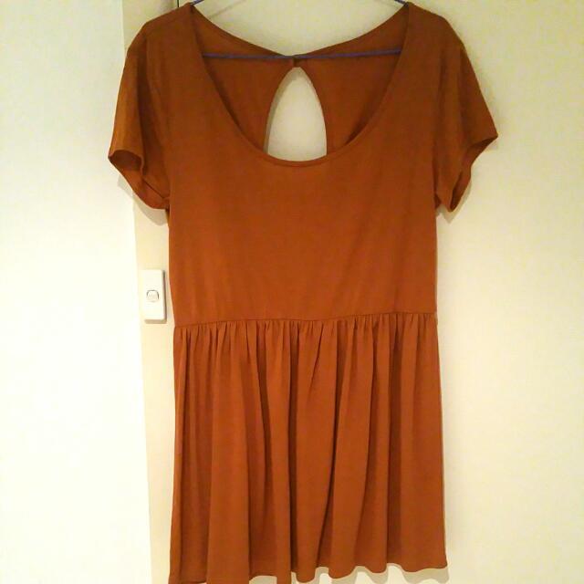 Orange Skater Dress AUS Size 10-12 L