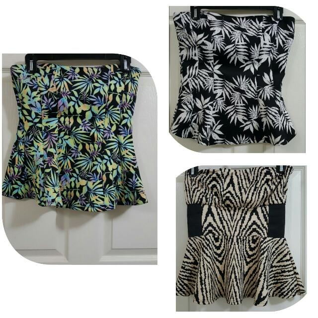 peplum tube tops