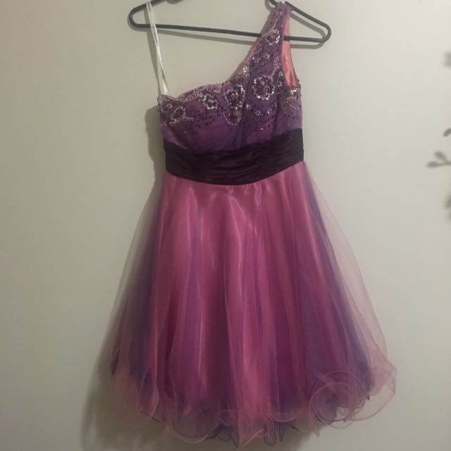 Pink and Purple Princess Party Dress