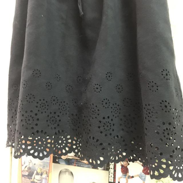 Ps Company 麂皮雕花背心洋裝