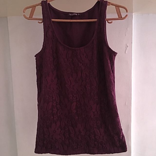 Sexy Terranova Purple Tank Top