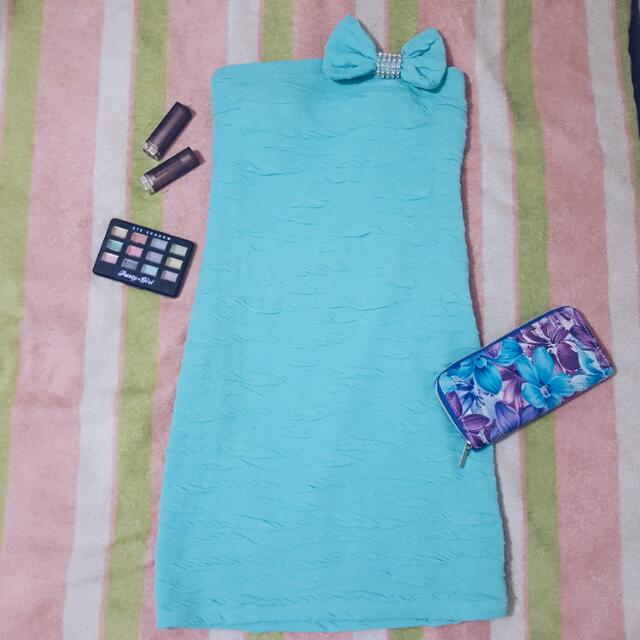 Sky Blue Tube Dress
