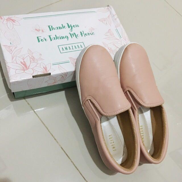 Slip On @amazara.id - Pink Lily