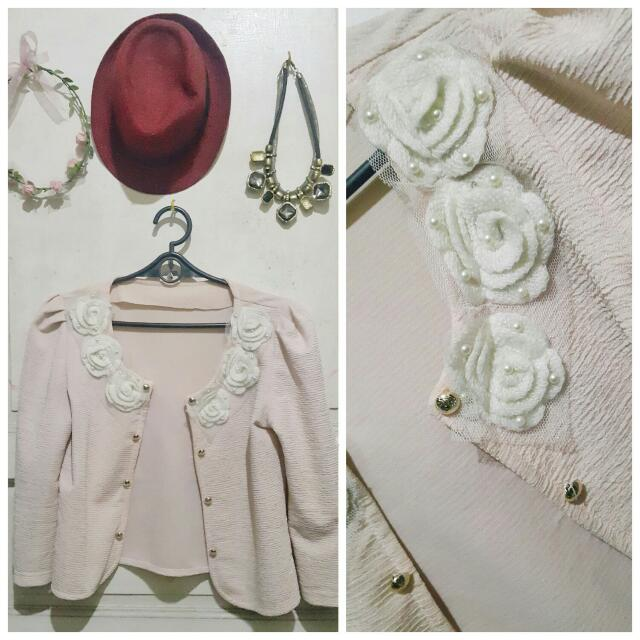 Soft Pink Blazer/coat (Korean Style)