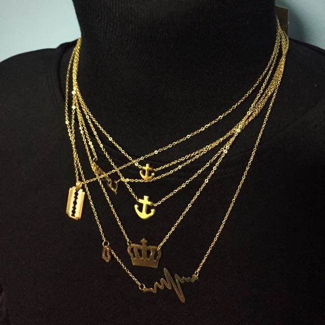 Stainless Gold Plated Necklace