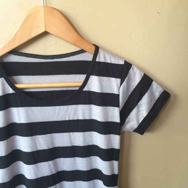 Stripes Semi-long Dress