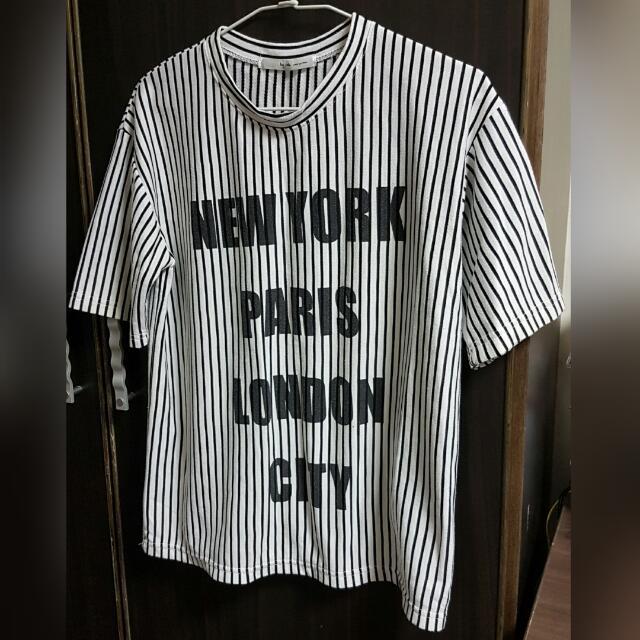 正韓短袖條紋T恤