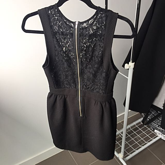 Tokito Sexy Black Lace Dress
