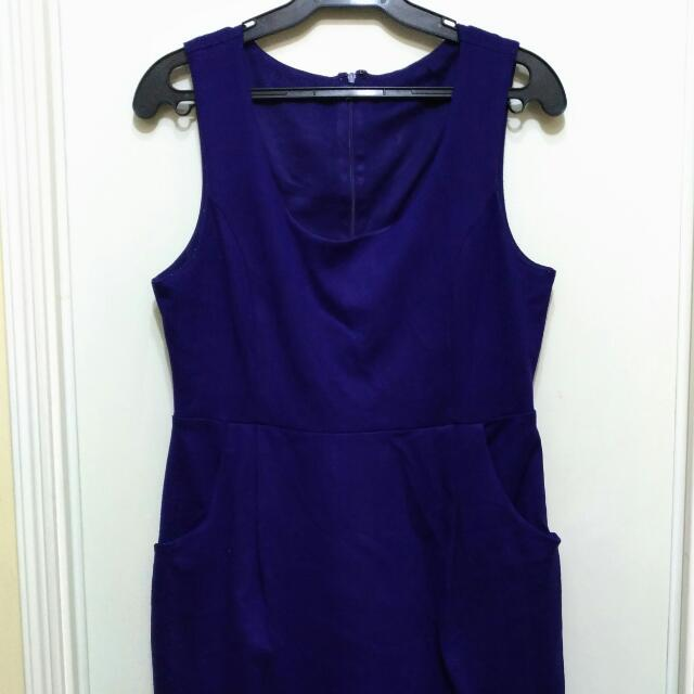 Violet Dress With Side Pockets