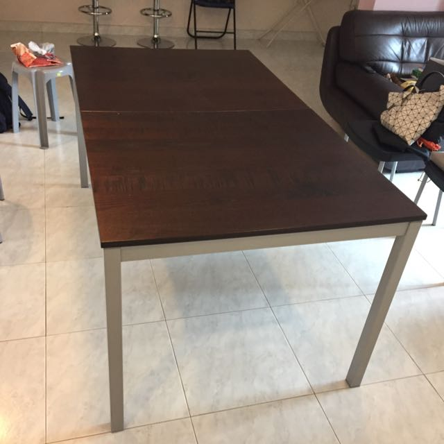 Walnut Color Dining Table Furniture Tables Chairs On Carousell - Walnut color dining table