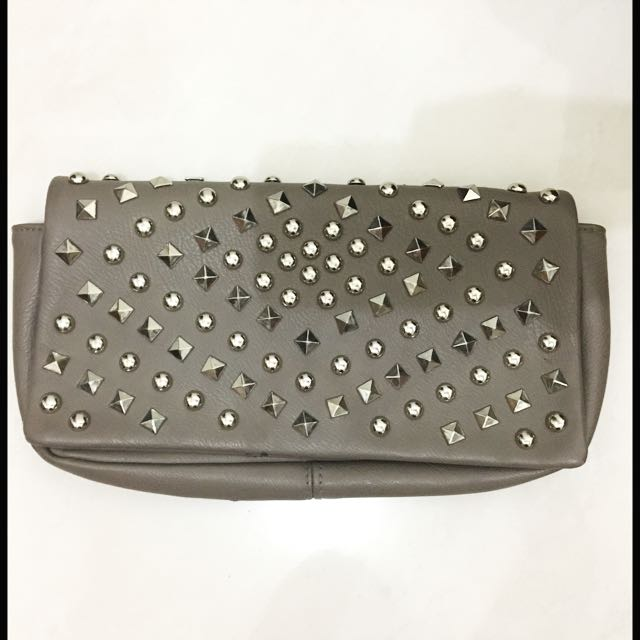 Warehouse Rockstud Clutch & Sling Bag