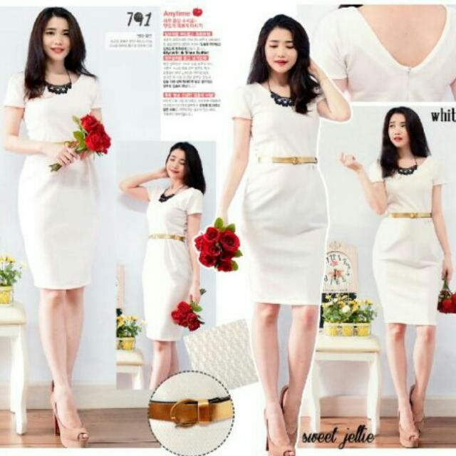 White Dress Body Fit