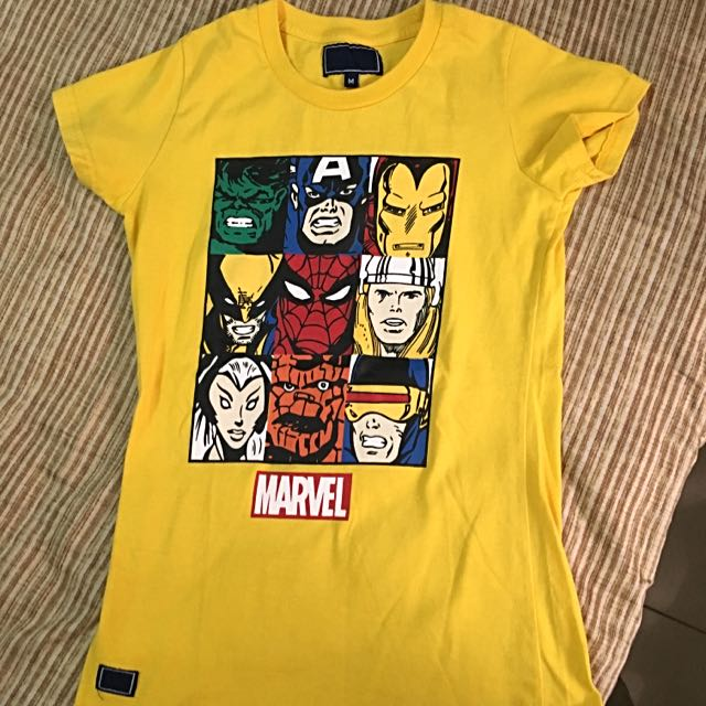 *RESERVED* Yellow Marvel Shirt Top