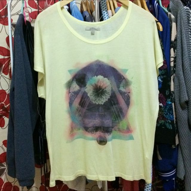 ZARA Trafaluc Yellow Flower T-shirt