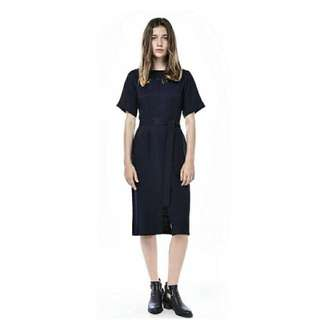 The Editor's Market Reana Belted Midi Dress Size L