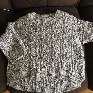 3/4 Length Sleeve Hand m  Knit Sweater