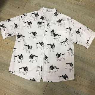 韓版鬥牛犬襯衫